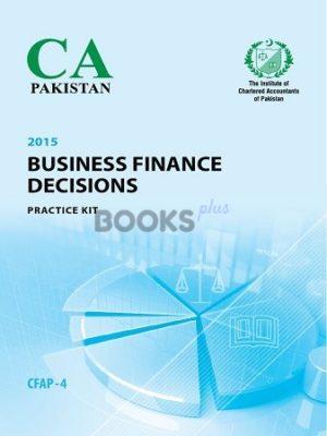 CA CFAP 4 Business Finance Decisions BFD Practice Kit ICAP