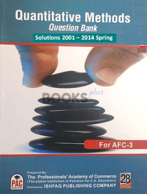 CA AFC 3 Quantitative Methods Question Bank PAC