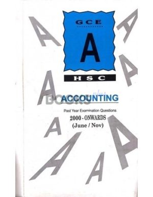 A Level Accounting Unsolved Yearly 2000 onwards to June 2018