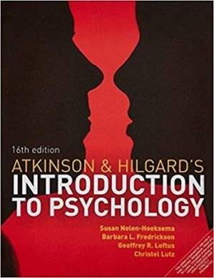 Atkinson and Hilgards Introduction to Psychology 16th Edition