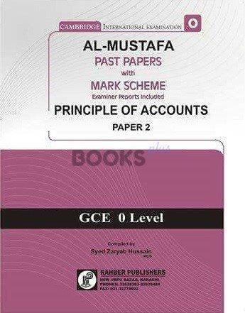 Al Mustafa O Level Principles Of Accounts P2 Unsolved Upto Nov 2018