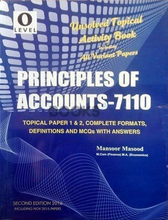 O Level Principles Of Accounts 7110 Unsolved Topical Mansoor Masood
