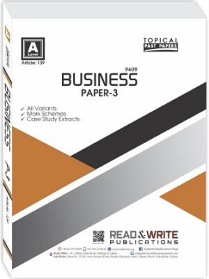 A Level Business Studies Paper 3 Topical Past Papers