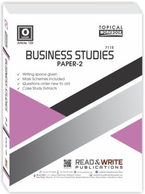 Business Studies O Level Paper 2 Topical Workbook