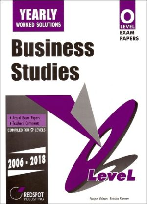 O Level Business Studies yearly redspot 2018 2019