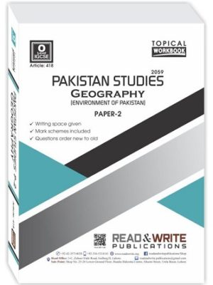 O Level Pakistan Studies Geography Paper 2 Topical Workbook