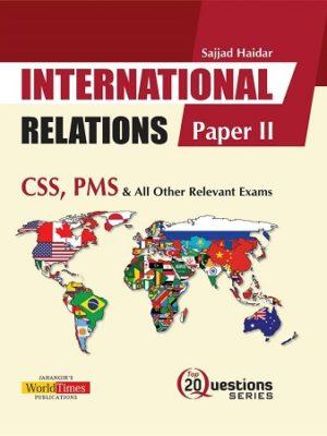 International Relations Paper 2 Jahangir JWT