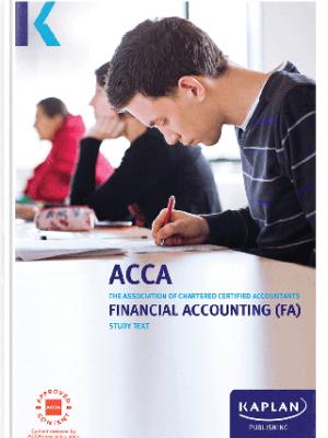 kaplan acca financial accounting FA F3 study text 2019 2020