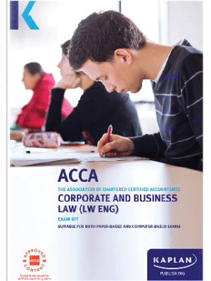 kaplan acca corporate and business law LW ENG F4 exam kit 2019 2020