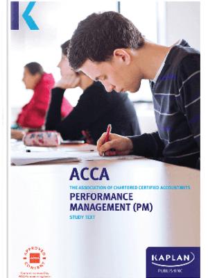 kaplan acca performance management PM F5 study text 2019 2020