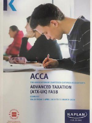 Kaplan ACCA Advanced Taxation ATX UK P6 FA17 Exam Kit 2019 2020