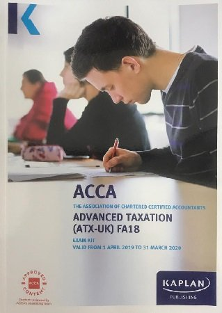 Kaplan ACCA Advanced Taxation ATX UK P6 FA17 Exam Kit 2019 2020