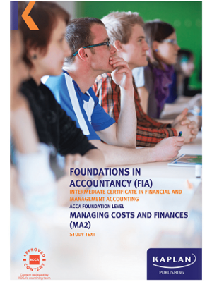 Kaplan FIA Managing Costs and Finance MA2 Study Text 2019 2020